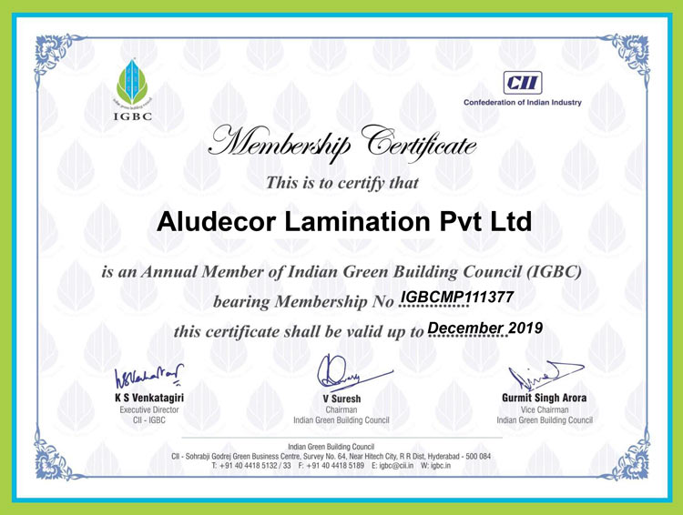 Certificates & Awards | Aludecor